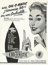 W5415 Dieny Oil o Matic LUCAS - Pubblicità 1956 - Advertising