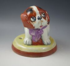 ART DECO ENGLAND PUPPY DOG CERAMIC LAMP BASE -TV LAMP -WHIMSICAL -RARE