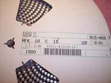 QTY (1500) 15uf 10V SMD ALUMINUM ELECTROLYTIC ALCHIP 4x5  MFK10FC15 NCC