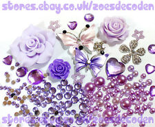 DIY cell phone case bling butterfly flower crystal cabochon decoden deco kit