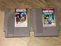 Bad Street Brawler & Glove Ball Game Lot Nintendo Nes Cleaned & Tested Authentic
