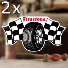 2x pezzi FIRESTONE Adesivi Sticker HOT ROD Consiglio autocollante NEW STYLE 145mm