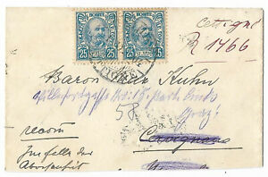Montenegro 1904 registered cover from Austro Hungarian Consulate at Cetinje c.33