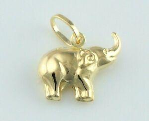 9ct Yellow Gold Baby Elephant Charm / Pendant