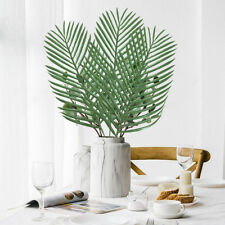 10PCS Artificial Palm Tree Faux Leaves Green Plants Greenery for wedding Decor