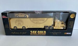 1998 24K Gold Plated Commemorative Series 1:64 Scale Transporter with Stock car