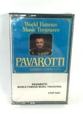 Pavarotti World Famous Music Treasures Cassette Tape New and Sealed