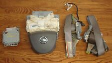 2005 2006 NISSAN ALTIMA OEM Gray Airbags Set Front Seatbelts Module 28556ZB000A