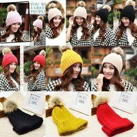 Women Winter Warm Braided Crochet Wool Knit Beanie Beret Ski Cap Baggy Hat jg7