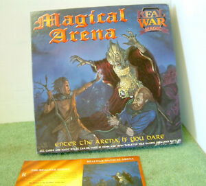 MAGICAL ARENA Vintage RPG Board Game by Real War Magic Mint Condition