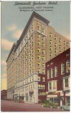 Stonewall Jackson Hotel in Clarksburg WV Postcard 1954