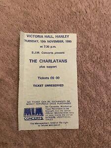 The charlatans Concert Ticket Stub