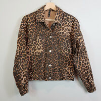 ZARA | Womens Animal Print Denim Jacket [ Size S or AU 10 or US 6 ]