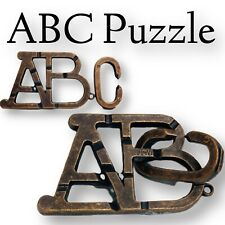 Brainteaser IQ Puzzle  METAL  ABC Learn Calculate Figure Out Skill Gift Kids