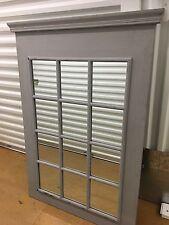 Grey Window Pane Style Mirror
