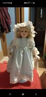 """14"""" porcelain doll with stand"""