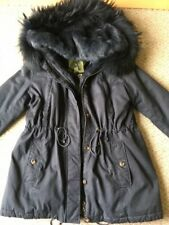 NWOT ALESSANDRA CHAMONIX women CLEMENTINE jacket size 48 (L) racoon/rabbit