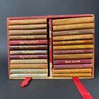 Antique Shakespeare Boxed Set (24) Miniature Mini Books Case Knickerbocker