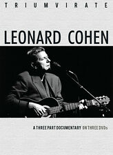 LEONARD COHEN New Sealed COMPLETE HISTORY & BIOGRAPHY 3 DVD BOXSET