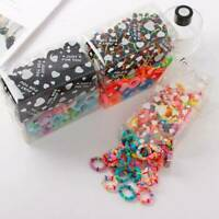 100Pcs Girl Hair Band Tie Candy Color Elastic Rope Ring Hairband Ponytail Holder