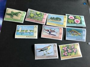 anguilla stamps scott 275-290 mnhog a4821