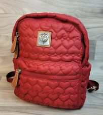 Brighton Heart to Heart KINGSTON Backpack Poppy Red Quilted Packable Rollable