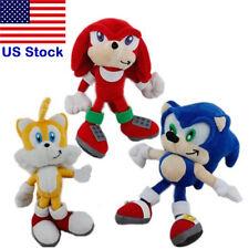 """3PCS/Set Super Sonic Boom the Hedgehog Knuckles Tails Plush Figure Toys 9""""/22CM"""