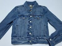 Women's Levis Blue Jean Jacket Denim Cropped Size Extra Small