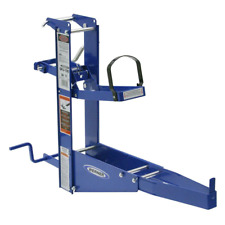 Steel Pump Jack With Hand Crank Safety Brake Works With Planks Up To 24 In Wide