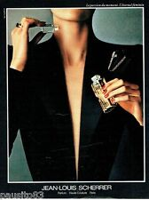 PUBLICITE ADVERTISING 116  1988  Jean-Louis Scherrer  parfum haute couture
