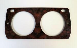 Original Genuine Classic Mini Rokee Walnut dashboard clockcover for 2 clocks