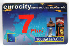 EUROPE  TELECARTE / PHONECARD .. ESPAGNE 1000PTAS EUROCITY TOUR EIFFEL PISE PISA