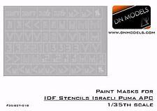 Paint Mask set 1/35 IDF Stencils Israeli Puma APC Legend Trumpeter Hobby Boss