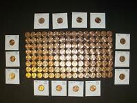 COMPLETE 1959 to 2018 BU/AU LINCOLN CENT RUN: 136 Coins-all (7) 1982 coins (c&z)