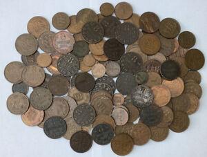 Guernsey Lot X108 Victoria - Queen Elizabeth II Antique And Modern Copper Coins