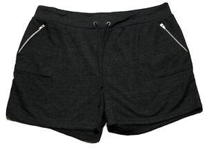 Daisy Fuentes Ladies Assorted Shorts w/ Zipper Pockets Gray (Plus Size: 3X)