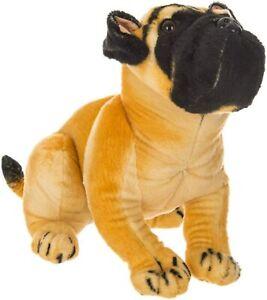 35CM LARGE STUFFED SITTING PUG SOFT BIRTHDAY BULL DOG TEDDY BEAR PRESENT GIFT