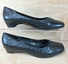JONES Women's Black Leather Court Shoes UK 6 EU 39