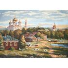 Gobelin Tapestry Textile Picture O. Frame Panel Old Moscow Fabric 76x54