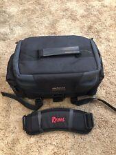 "Official Canon Rebel DSLR Camera Gadget Black Bag W/ Shoulder Strap 14""x 8""x 7"""
