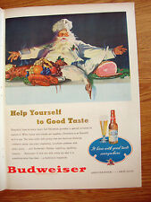 1947 Budweiser Beer Ad Christmas Hospitality 1947 Shell Oil Research Ad Jet