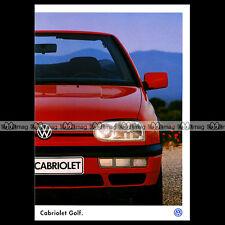 ★ VW VOLKSWAGEN GOLF CABRIOLET III MK3 ★ 1996 - Brochure Catalogue PUB #BA115