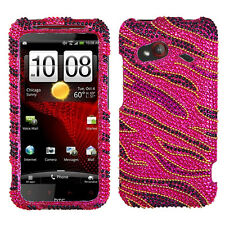 For HTC Droid Incredible 4G LTE Crystal Diamond BLING Case Phone Cover Rocker
