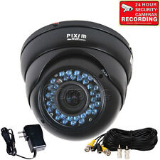 Dome Security Camera PIXIM Outdoor 36 IR LED Day Night Zoom Lens 690TVL CCTV me5
