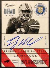EJ Manuel Passport Autograph 2013 Panini Prestige Football Auto E.J. EJ RC NFL