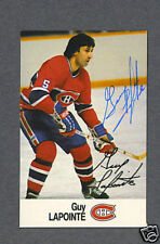 Guy Lapointe signed Montreal Canadiens 1988 Esso card