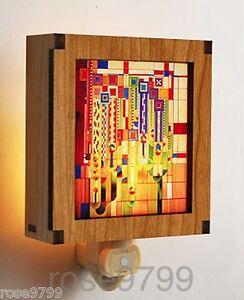 Frank Lloyd Wright Hardwood Saguaro Night Light NIB WLCNL01