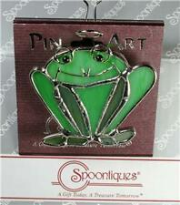 Spoontiques Pin Art NEW Stained Glass Frog