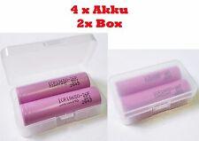 4x Akku + 2x BOX e-Zigarette Samsung ICR 18650 3,7V 2600mAh für Eleaf Kanger