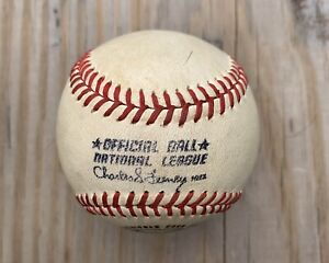 Vintage Baseball Spalding Official Ball National League Charle S. Feeney 1970-73